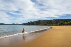 Piękne plaże Abel Tasman park narodowy fotografia stock