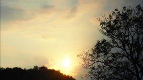 Piękne podeszczowe chmury rusza się w niebieskim niebie zbiory wideo