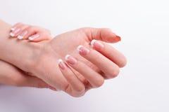 Piękne przygotowywać kobiet ręki zdjęcie stock