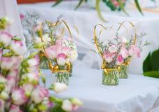 Piękne róże w szkle Zdjęcie Stock