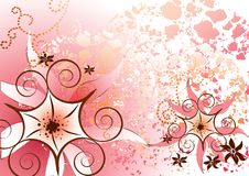piękne, różowe kwieciste royalty ilustracja