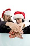 piękne ręki jej pokazywać partnerów Zdjęcia Royalty Free