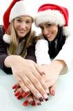 piękne ręki jej pokazywać partnerów Zdjęcia Stock