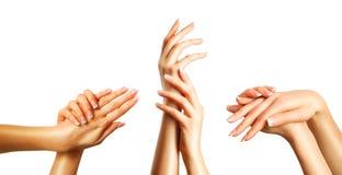 Piękne ręki ustawiać Zdjęcie Royalty Free
