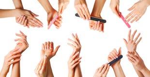 Piękne ręki ustawiać Zdjęcie Stock