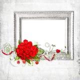 piękne ramowe czerwone róże royalty ilustracja