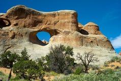 Piękne rockowe formacje w łuku parku narodowym zdjęcie royalty free