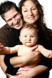 piękne rodziną young Obrazy Royalty Free
