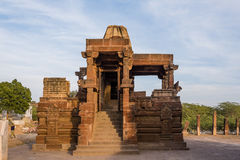 Piękne rzeźbić antyczne Jain świątynie budować w 6th wiek reklamie w Osian, India Obraz Stock
