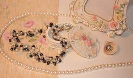 Piękne rzeczy z perłami Obrazy Stock