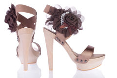 piękne s sandałów butów kobiety Zdjęcia Stock