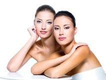 piękne seksowne holownicze kobiety zdjęcie royalty free