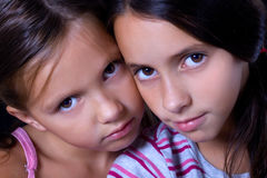 piękne siostry dwa Fotografia Royalty Free