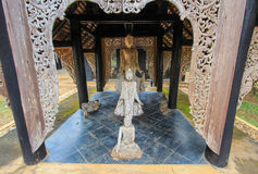 Piękne sztuki przy czerń domem lub Baan tamą, Chiang Raja, północny Tajlandia obraz royalty free