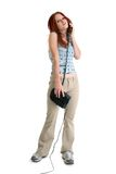 piękne telefoniczne młodych kobiet Fotografia Royalty Free