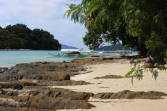 Piękne tropikalne wyspy - zadziwiać Palawan, Filipiny obrazy stock