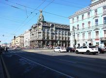 Piękne ulicy St Petersburg Denny kapitał Rosja Szczegóły w górę i fotografia stock