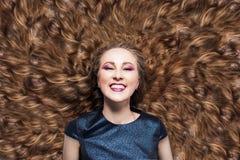 piękne włosy E r r obraz royalty free