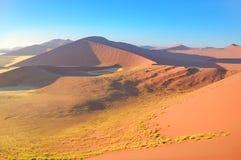 Piękne wschód słońca diuny Namib pustynia, Afryka Obraz Stock