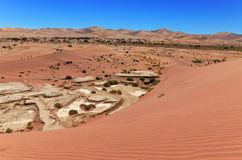 Piękne wschód słońca diuny Namib pustynia, Afryka Zdjęcia Royalty Free