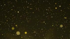 Piękne złociste spławowe pył cząsteczki ilustracja wektor