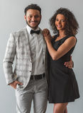 Pięknego Afro Amerykańska para Obraz Royalty Free