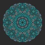 Pięknego aqua ornamentacyjny tło Obrazy Stock