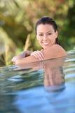 pięknego basenu pływacka kobieta Zdjęcie Stock