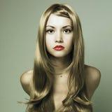pięknego blondynu wspaniała kobieta obrazy royalty free