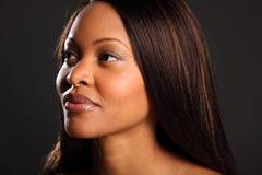 pięknego czarny headshot oszałamiająco kobieta Obrazy Stock