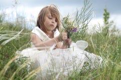 pięknego czarodziejskiego dziewczyny gazonu mała bajka Zdjęcia Stock