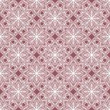Pięknego druku Bezszwowy wzór Mandala Kwitnie z różowym tłem Obraz Royalty Free