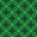 Pięknego druku Bezszwowy wzór Mandala Kwitnie z zielonym tłem Obrazy Royalty Free