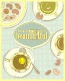 Pięknego dzień, wycena karta, herbaciany plakat Fotografia Royalty Free