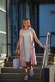 pięknego dziewczyna torby na zakupy Pojęcie kobieta zakupy Obraz Royalty Free