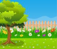 pięknego ilustraci krajobrazu wiejski wektorowy widok royalty ilustracja
