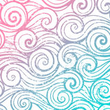 Pięknego koloru abstrakcjonistycznego rocznika falowy wzór ilustracja wektor