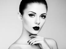 pięknego makeup piękna kobieta piękna odosobniony portreta biel Obraz Royalty Free