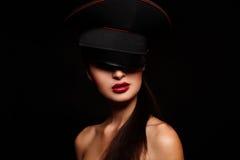 pięknego mody splendoru wysoki spojrzenia portret obraz royalty free