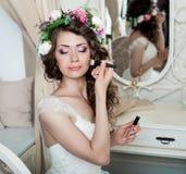 Pięknego panna młoda portreta ślubny makeup Fotografia Stock