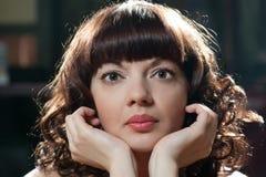 pięknego portreta poważna kobieta Zdjęcie Royalty Free