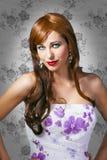 pięknego portreta zmysłowa kobieta Obraz Royalty Free