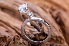 Pięknego ringowego jewellery accessoiry zobowiązanie Obraz Royalty Free