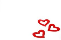 Pięknego rocznika miłości Drewniani Czerwoni serca dla ślubów lub valentines Obrazy Royalty Free