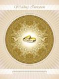 Pięknego rocznika zaproszenia ślubna karta Zdjęcie Stock