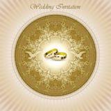 Pięknego rocznika zaproszenia ślubna karta Obrazy Stock