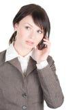 pięknego telefonu obcojęzyczni kobiety potomstwa fotografia stock