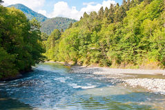 pięknego ujawnienia długa halna rzeka Obraz Royalty Free