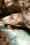 pięknego ujawnienia długa halna rzeka Zdjęcia Stock