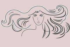 pięknego włosy długa falista kobieta Fotografia Royalty Free
